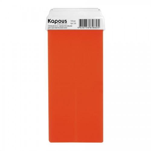 Гелевый воск с ароматом Вишни Картридж 100 мл с широким роликом Kapous