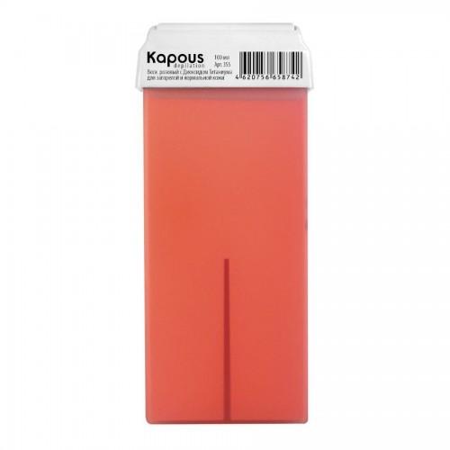 Жирорастворимый воск Розовый Диоксидом Титаниума Картридж 100 мл с широким роликом Kapous