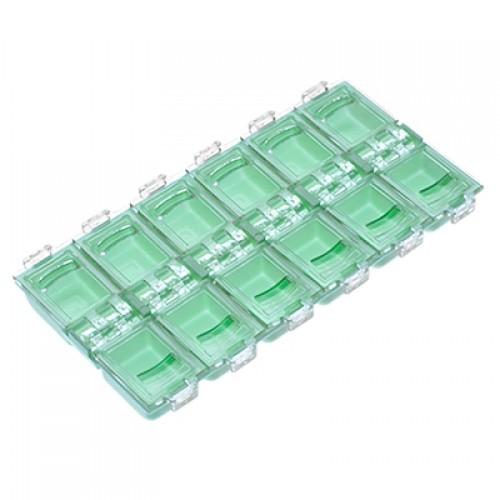 Бокс для хранения прямоугольный, 12 ячеек пастельно-зеленый