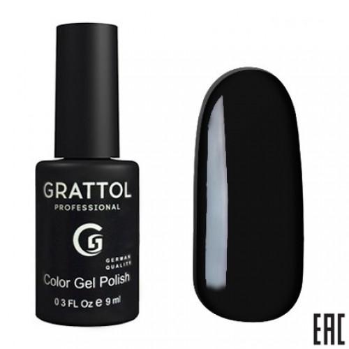 Grattol Color Gel Polish Black GTС002