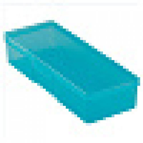Бокс пластиковый для кистей и инструментов, 190х70х40мм голубой