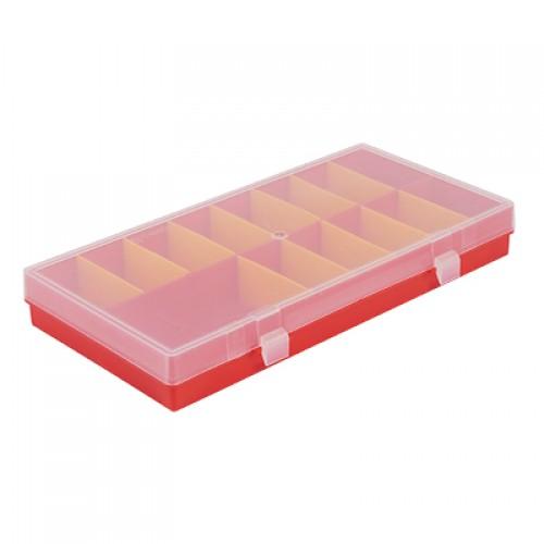 Бокс для хранения, 285х140х35мм, 16 ячеек красный