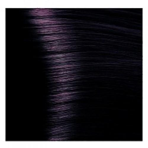 Кapous Hyaluronic - Стойкая Крем-краска для волос HY 1.2  Черный фиолетовый, 100 мл