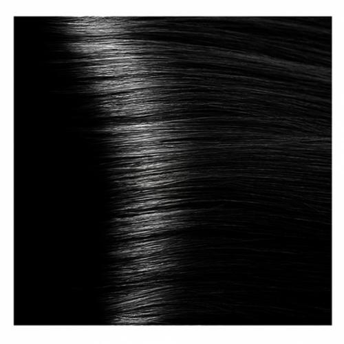 Кapous Hyaluronic - Стойкая Крем-краска для волос HY 1.0 Черный , 100 мл