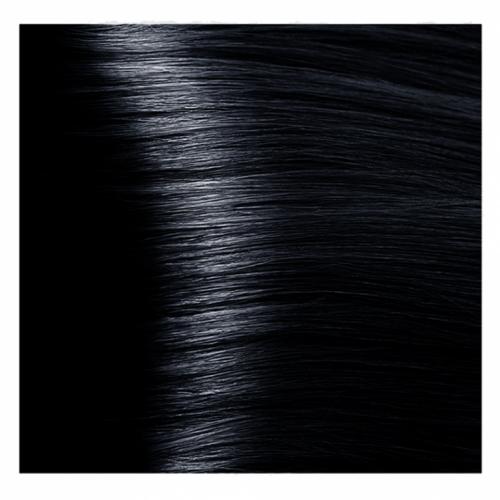 Кapous Hyaluronic - Стойкая Крем-краска для волос HY 1.1 Иссиня-черный, 100 мл