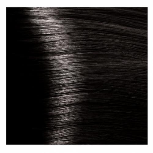 Кapous Hyaluronic - Стойкая Крем-краска для волос HY 3.00 Темно-коричневый интенсивный, 100 мл
