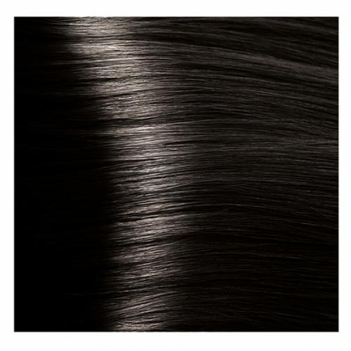 Кapous Hyaluronic - Стойкая Крем-краска для волос HY 4.00 Коричневый интенсивный, 100 мл
