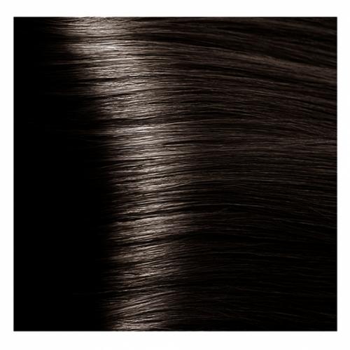 Кapous Hyaluronic - Стойкая Крем-краска для волос HY 4.07 Коричневый натуральный холодный, 100 мл
