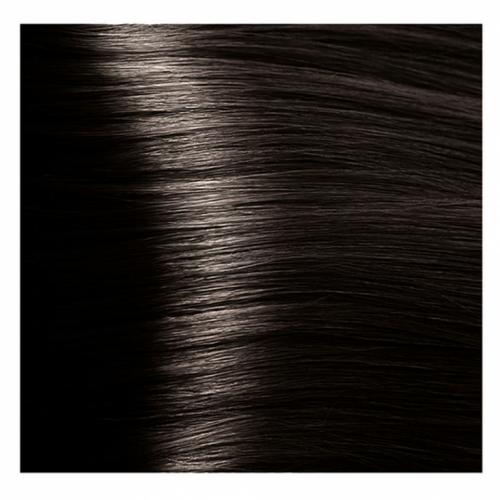 Кapous Hyaluronic - Стойкая Крем-краска для волос HY 4.12 Коричневый табачный, 100 мл