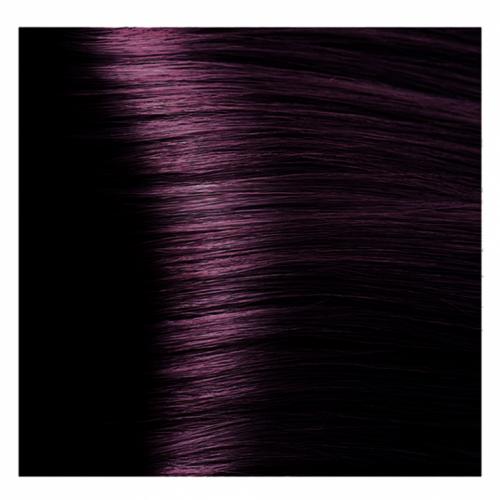 Кapous Hyaluronic - Стойкая Крем-краска для волос HY 4.2 Коричневый фиолетовый, 100 мл