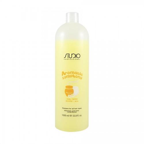 """Шампунь для всех типов волос """"Молоко и мед""""  Aromatic Symphony 1000мл Kapous Studio"""