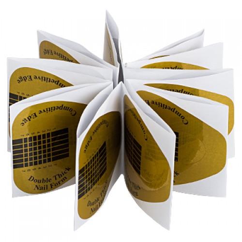 Формы широкие золотые в пакете, 20шт