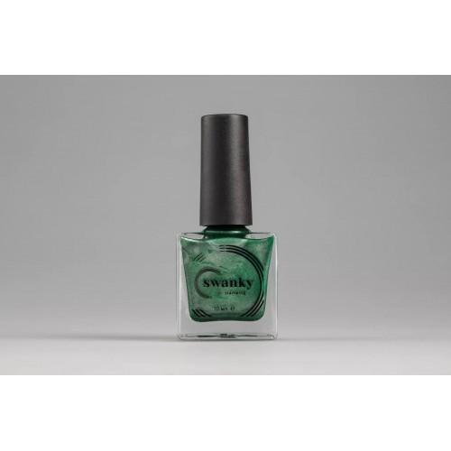 Swanky Stamping, Лак для стемпинга Metallic 08 - Темно-зелёный (10 мл)