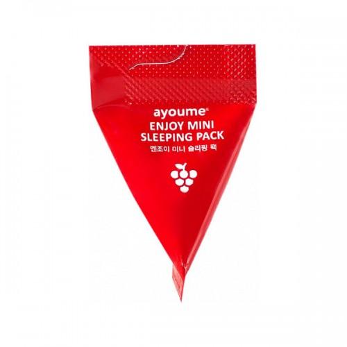 Маска для лица ночная в пирамидках Ayoume Enjoy Mini Sleeping Pack, 3 г * 1 шт