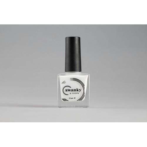 Swanky Stamping, Лак для стемпинга №002 - Белый (10 мл)