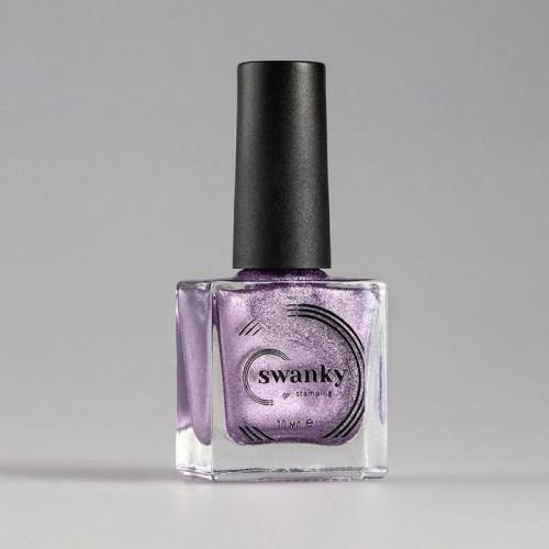 Swanky Stamping, Лак для стемпинга Metallic 01 - Сиреневый (10 мл)