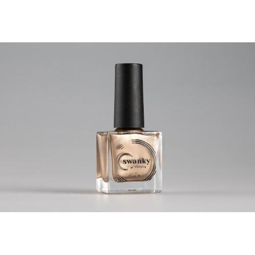 Swanky Stamping, Лак для стемпинга Metallic 02 - Светлое золото (10 мл)