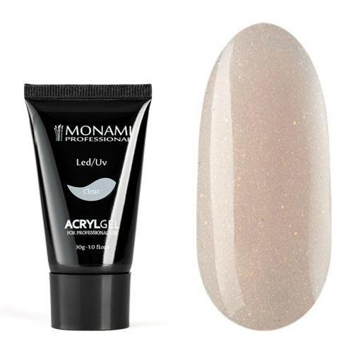 Monami, AcrylGel Nude SHINE - Акрил-гель камуфлирующий с шиммером,,  30 гр