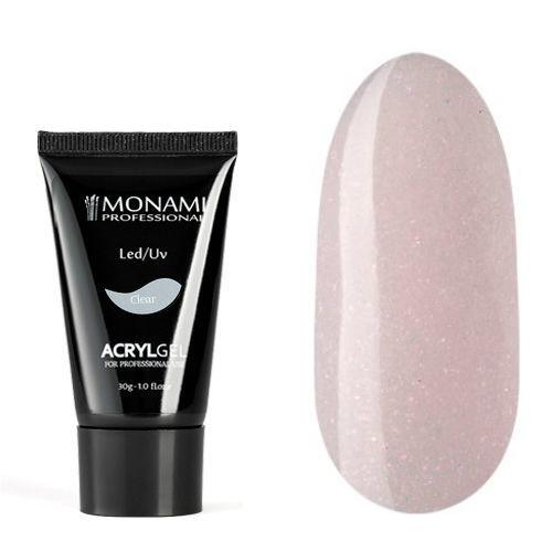 Monami, AcrylGel Pure Pink SHINE - Акрил-гель камуфлирующий с шиммером,  30 гр