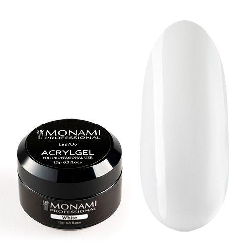 Monami, AcrylGel White - Акрил-гель белый 15 гр