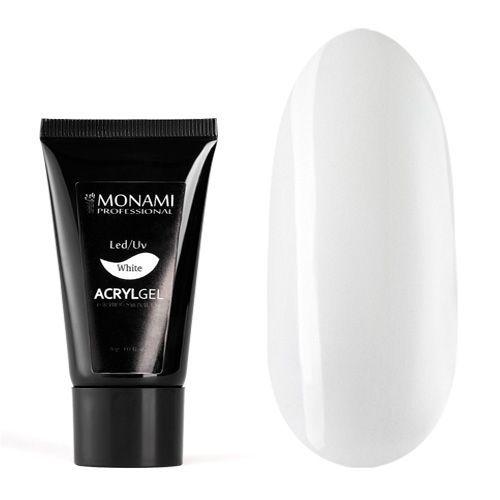 Monami, AcrylGel White - Акрил-гель белый 30 гр
