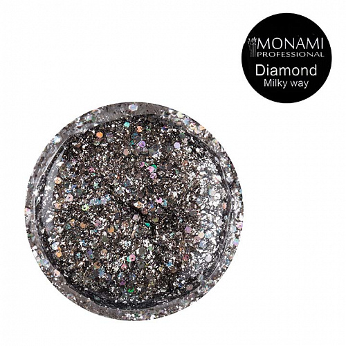 Гель-лак Diamond Milky Way (платиновый)  Monami