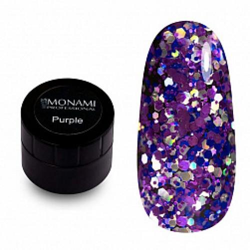Гель-лак с блеском  Purple 5 гр Monami