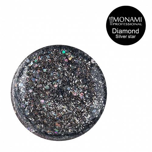 Гель-лак Diamond Silver Star (платиновый)  Monami