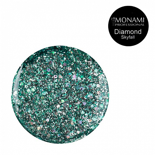 Гель-лак Diamond Skyfall (платиновый)  Monami