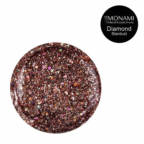 Гель-лак Diamond Stardust (платиновый)  Monami