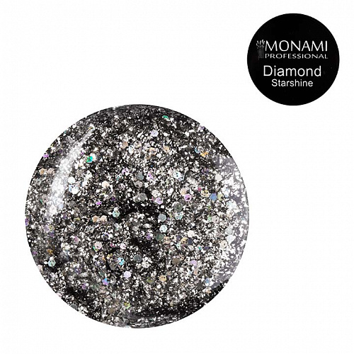 Гель-лак Diamond Starshine (платиновый)  Monami