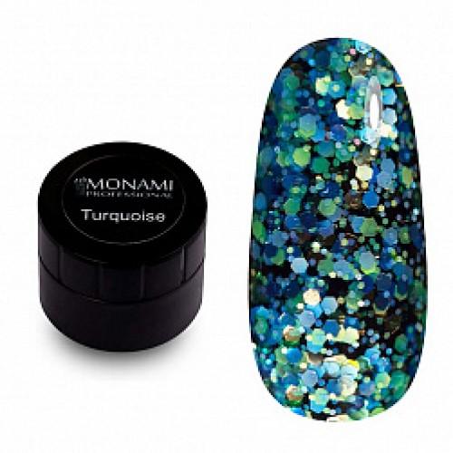 Гель-лак с блеском  Turquoise 5 гр Monami