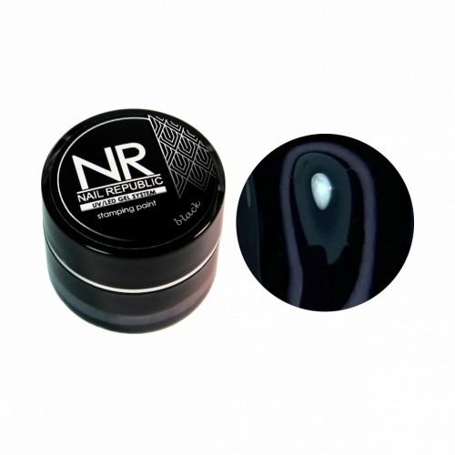 NR Гель краска для стемпинга -черная