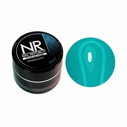NR Гель-краска для стемпинга — голубая
