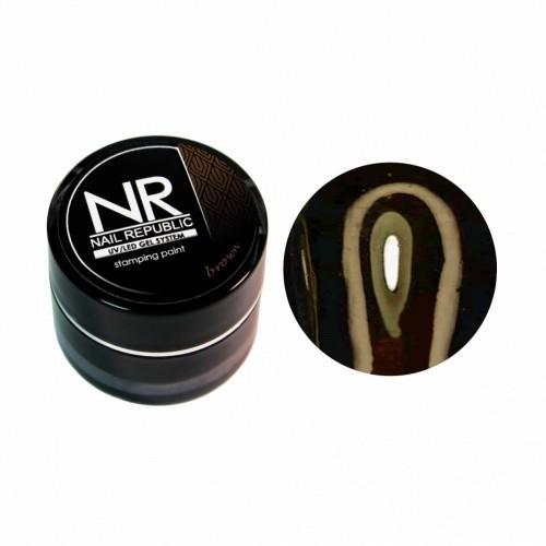 NR Гель-краска для стемпинга - коричневая