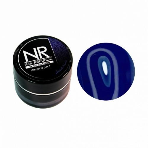 NR Гель-краска для стемпинга — темно-голубой