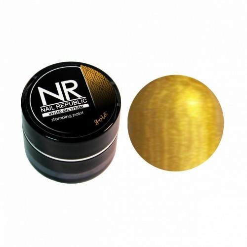 NR Гель краска для стемпинга -золото