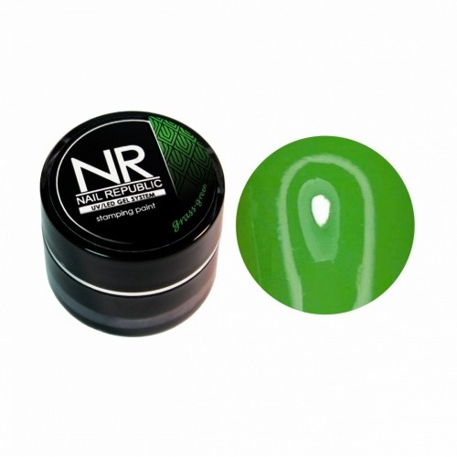 NR Гель-краска для стемпинга - зеленая трава
