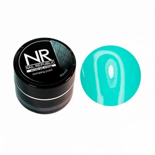 NR Гель краска для стемпинга - бирюзовая