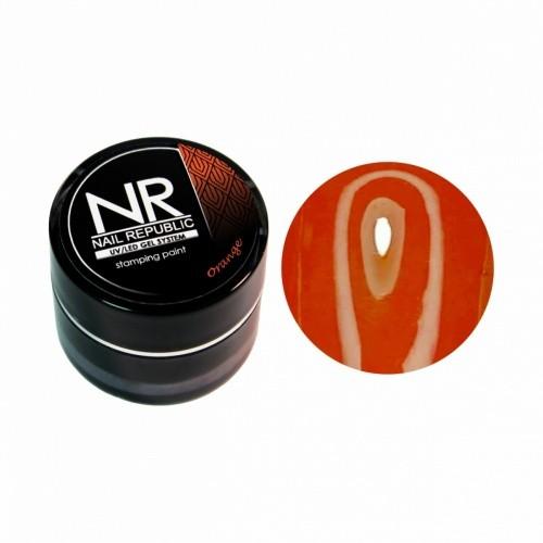 NR Гель-краска для стемпинга - оранжевый