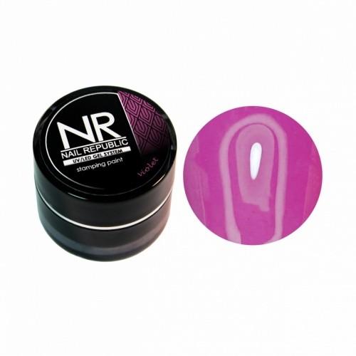 NR Гель краска для стемпинга - фиолетовая