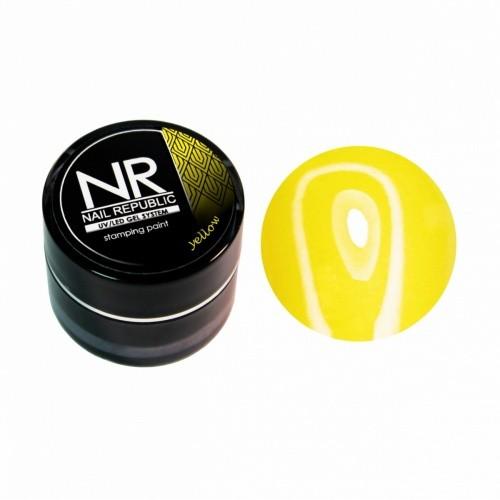 NR Гель краска для стемпинга - желтая