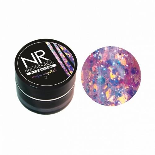 Гель-лак NR Гель-краска MAGIC CRISTAL №2 с блестками (7 гр) для маникюра
