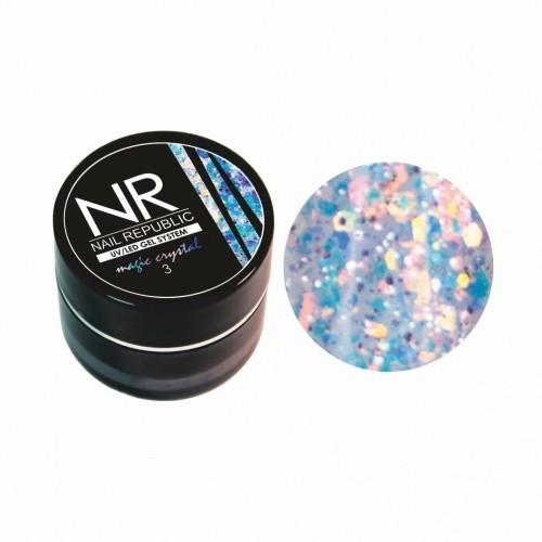 Гель-лак NR Гель-краска MAGIC CRISTAL №3 с блестками (7 гр) для маникюра