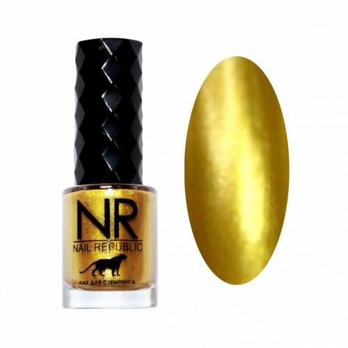NR Лак для стемпинга №01 Золото (10 мл)
