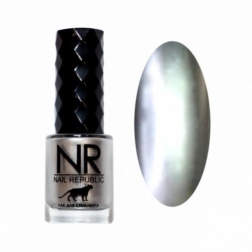 NR Лак для стемпинга №03 Серебро (10 мл)