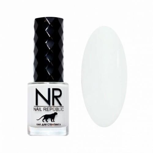 NR Лак для стемпинга №04 Белый (10 мл)