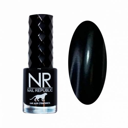 NR Лак для стемпинга №07 Черный (10 мл)