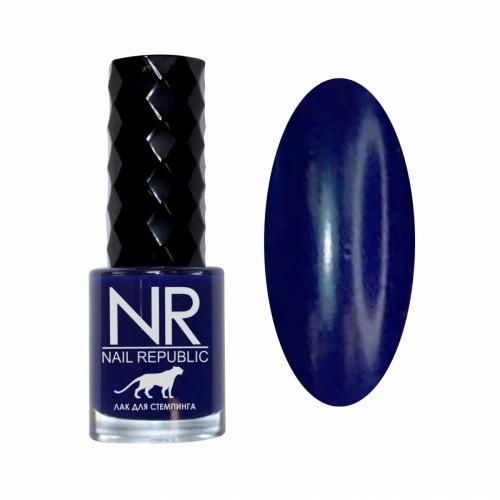 NR Лак для стемпинга №09 Синяя полночь (10 мл)