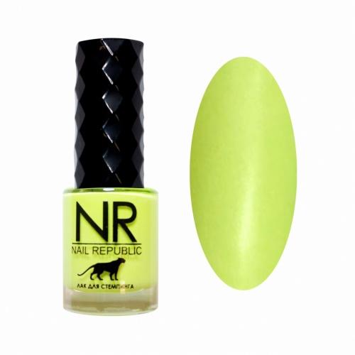 NR Лак для стемпинга №14 Люминесцентно-жёлтый (10 мл)